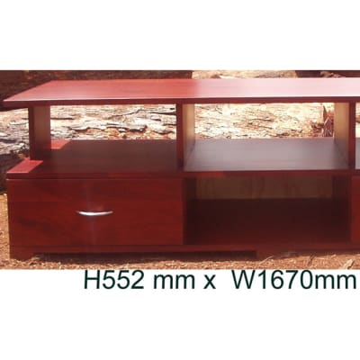 Solid teak low TV cabinet image