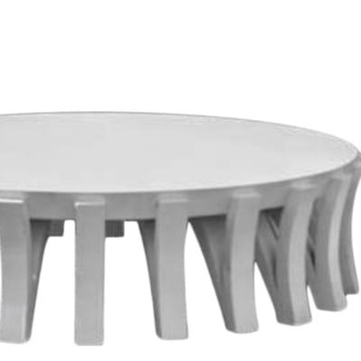 Tonga shaped leg low coffee table painted image