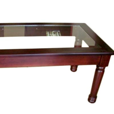 Turned Legs Glass Top coffee table image