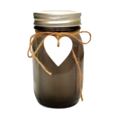 LED Lighted Brown Mason Jar image