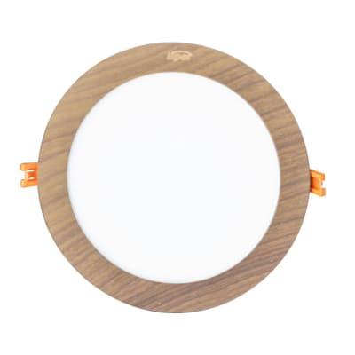 Large Round Wooden Indoor LED Light image