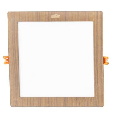 Large  Square Wooden Indoor LED Light image