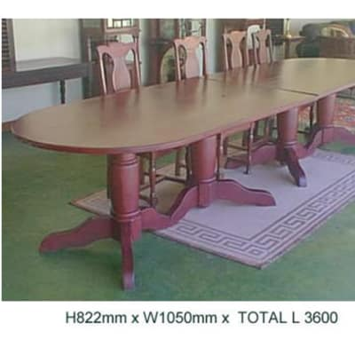 Large oval dining table river club image