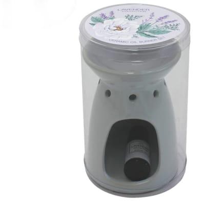 Air Freshener  Lavender Flower's  Ceramic Oil Burner with 10ml Scented Oil image