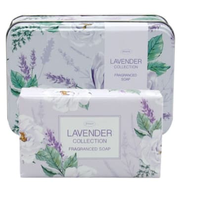 Soap in Tin Lavender Flower's Collection image