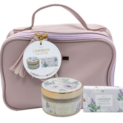 Lavender Flower's By Jenam Luxurious Moments Cosmetic Bag image