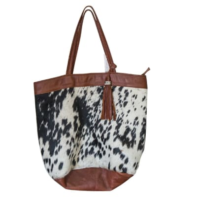 Leather Bag Tote Bag Hair-On Cowhide Leather  image