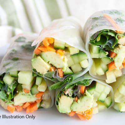 Starters - Vegetarian - Chilled Vegetarian Vietnamese Spring  image
