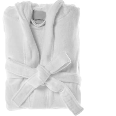 Bath Robes White Microfibre Soft & Comfy  image