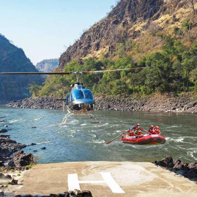Rafting + Heli Rapids 10 - Half day image