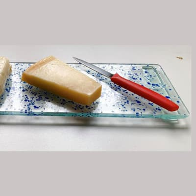 Blue Glass Cheese Platter image
