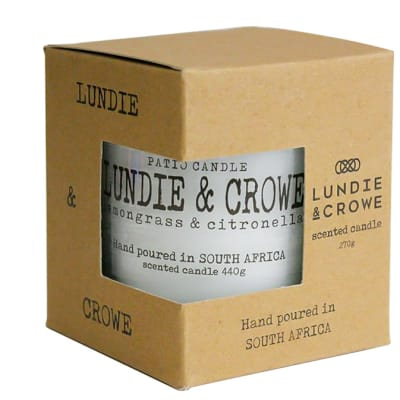 Lundie & Crowe Scented Patio Candle - Lemongrass & Citronella image