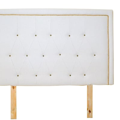 Lunte  Bed Base Headboard  White  image