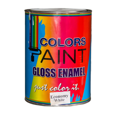 Colors Paint- Gloss Enamel Economy White image