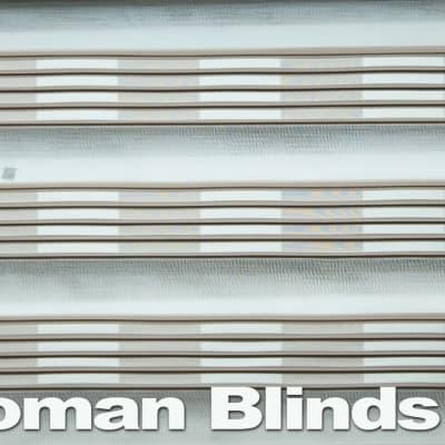 Roman blinds - white grey grey chic and stylish image
