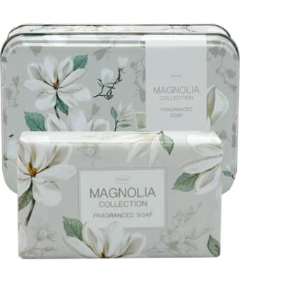 Soap in Tin Magnolia Flower's Collection image