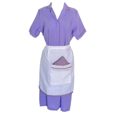 Maids  Purple with Apron Sizes 10 - 18 image
