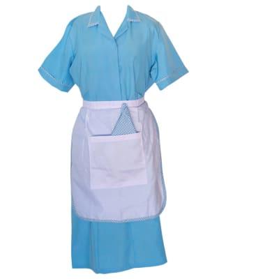 Maids  Light Blue  with Apron Sizes 10 - 18 image