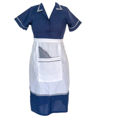 Maids Dark Blue with Apron Sizes 10 - 18  image