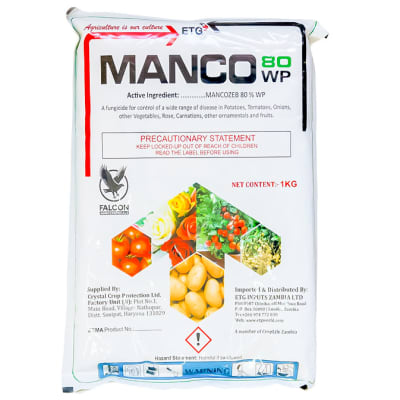 Manco 80 Wp  Mancozeb Wettable Powder Fungicide  1kg  image