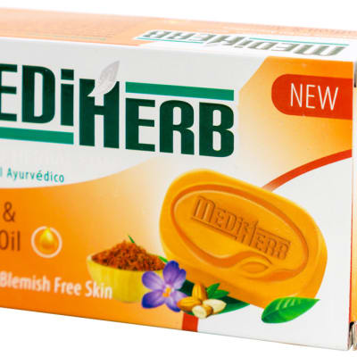 MediHerb Saffron & Almond Oil Herbal Soap  image
