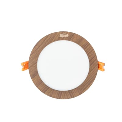 Medium Round Wooden Indoor LED Light image