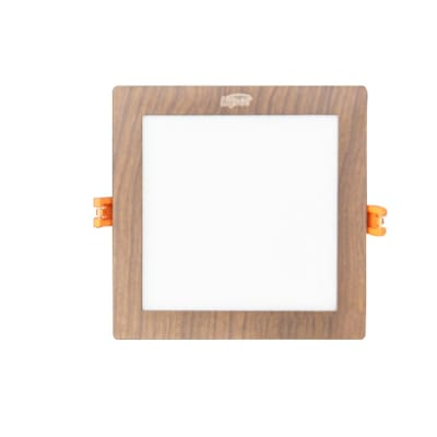Medium Square Wooden Indoor LED Light image