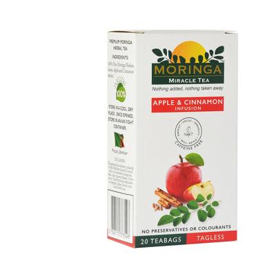 Herbal Tea  Organic Superfood Moringa Tea Apple & Cinnamon Infusion  image