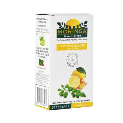 Herbal Tea Organic Superfood Moringa Tea  Lemon & Ginger Infusion  image