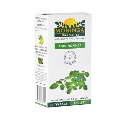 Herbal Green Tea Pure Moringa 20 Tea Bags image