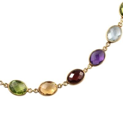 Yellow Gold  Multi-Gemstone  Necklace  image