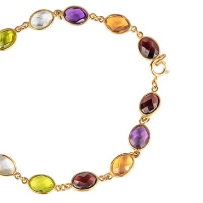 Yellow Gold  Multi-Gemstone  Bracelet  image