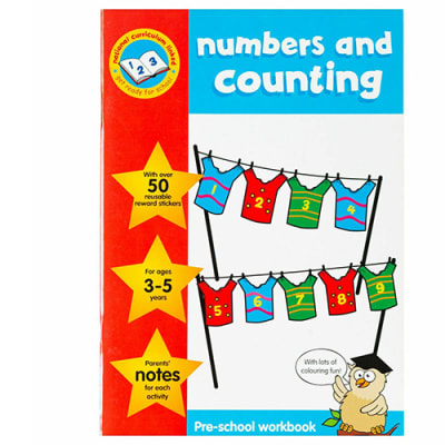 Numbers and Counting Pre-School Sticker  Work Book image