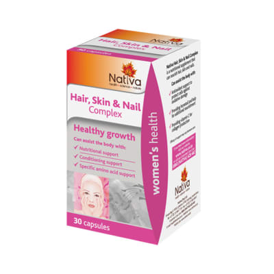 Hair Skin & Nail Complex  Healthy Growth Supplement  30 Capsules  image