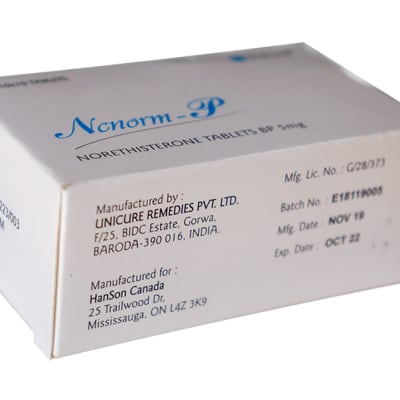 Ncnorm p - Norethisterone tablets image