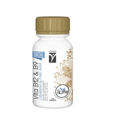 Nutrilife  Vita B12 & B9 Folic Acid  Vitamin Dietary Supplement Tablets  image