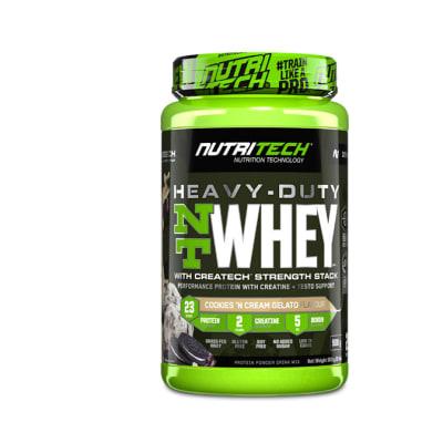 Nutritech  Heavy-Duty Nt Whey Protein Cookies 'N Cream Gelato  908g image