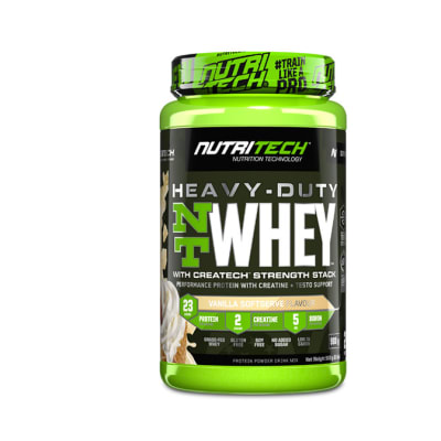 Nutritech  Heavy-Duty Nt Whey Protein Vanilla Softserve  908g image