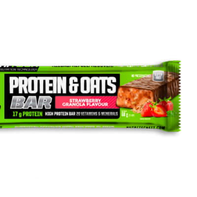 Nutritech Protein & Oats Bar - Strawberry Granola  image