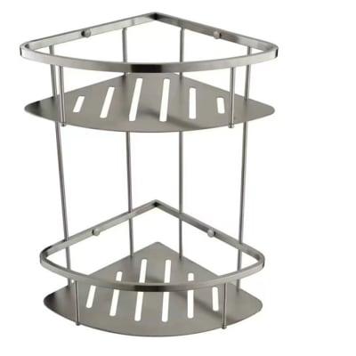 Bathroom shelf - Brushed matte steel shower caddy  N100 G image