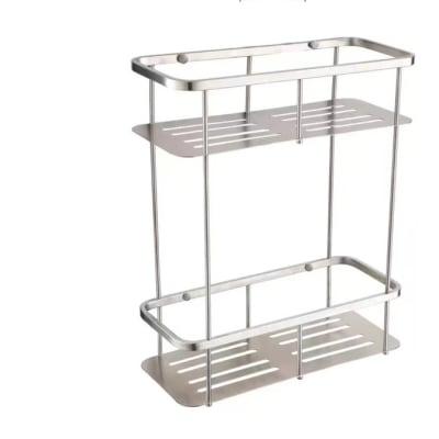 Bathroom shelf - Brushed matte steel shower caddy  N100 F image