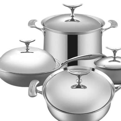 Lucuku Stainless Steel Four Piece Pot Set - 1430949527 image