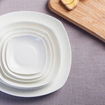 Pure White Bone China Plate Dish - 14940144187 image