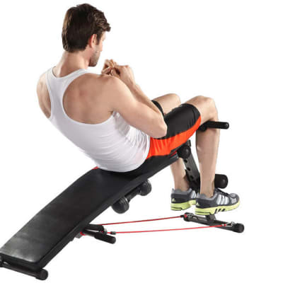 Sit-up Bench With Dumbbell 6455 image