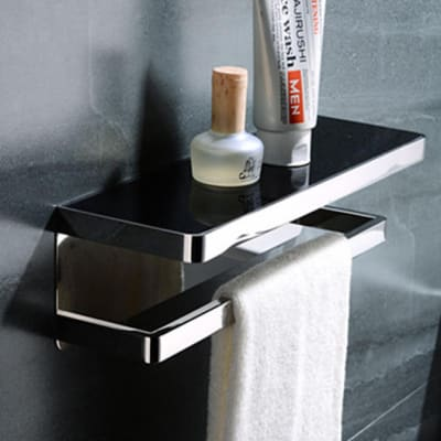 Bathroom shelf - Stainless steel bathroom shelf with towel rack  95001 L image