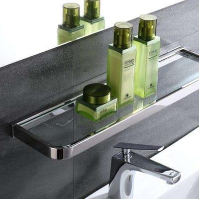 Bathroom shelf - Stainless steel and glass bathroom shelf  95001 G image