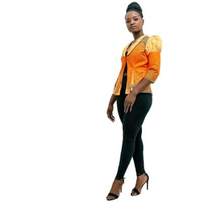 Orange Ankara Jacket image