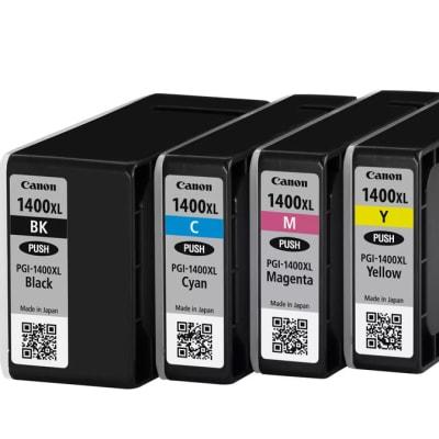Canon Pgi-1400  High Yield Black & Colour Ink Cartridges   image