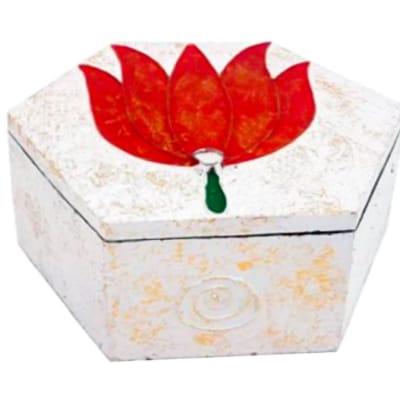 Storage Box Lotus Flower Hexagon Decorative Box image