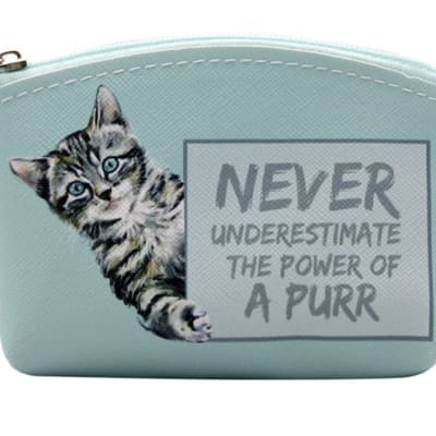 Paws For Thought Coin Purse - Never Underestimate The Power Of A Purr  image